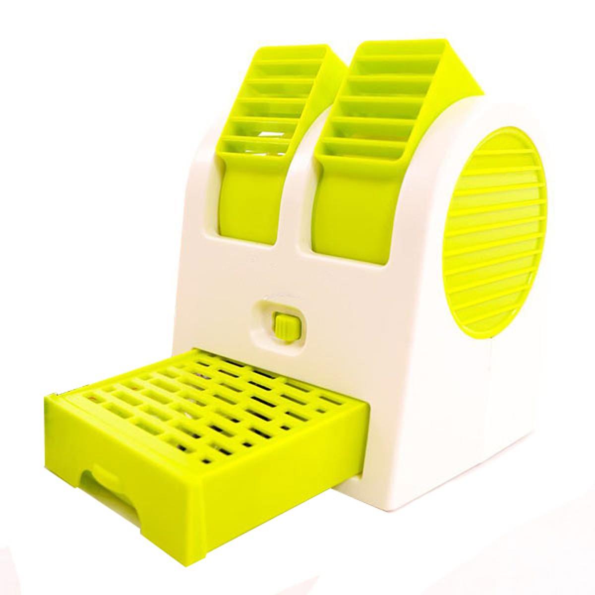 Combo quạt điều hòa mini khay đá 2 cửa và Quạt mini lồng sắt để bàn