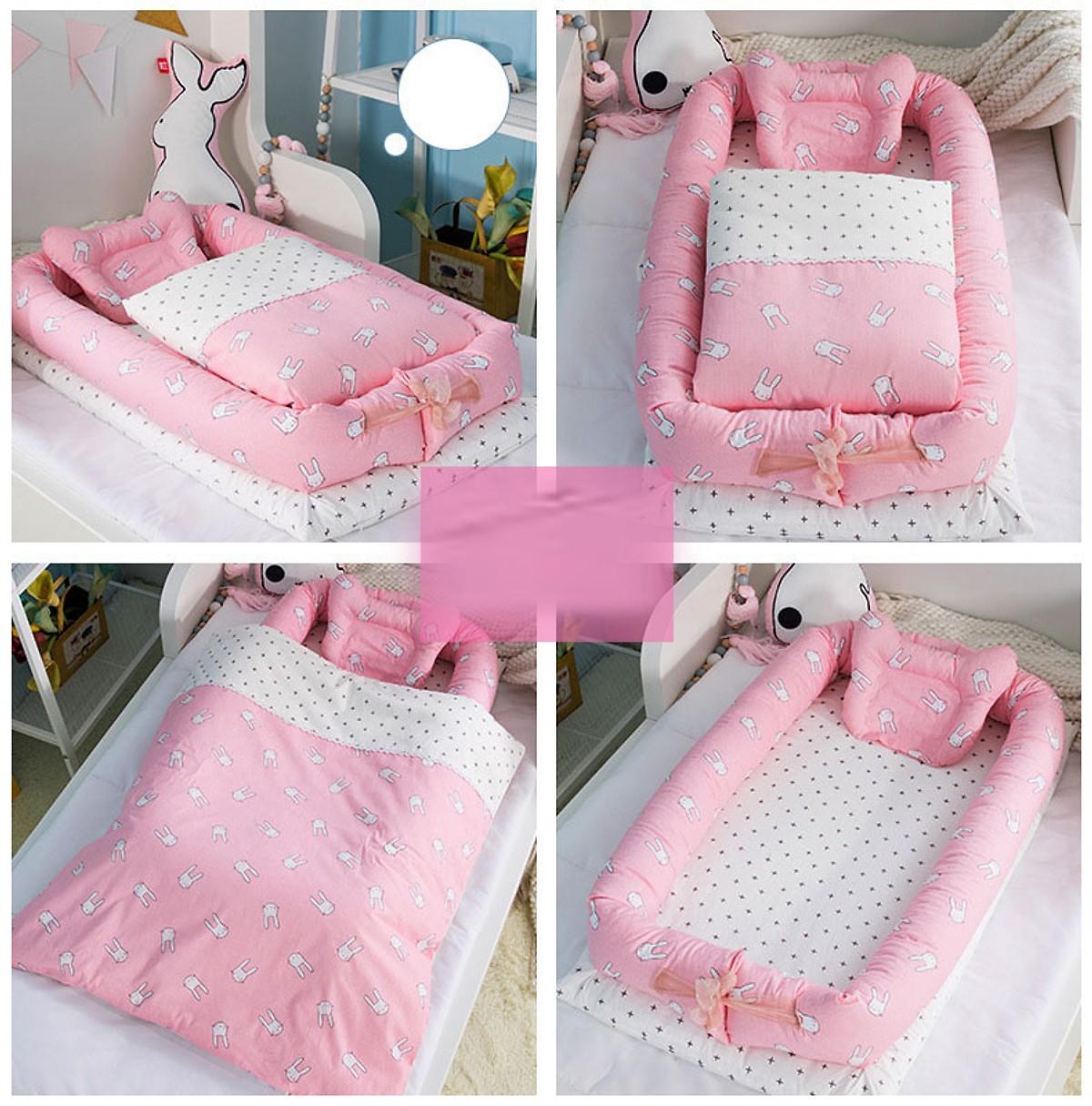 Combo giường nệm cho bé Hinata N01 - Không kèm chăn