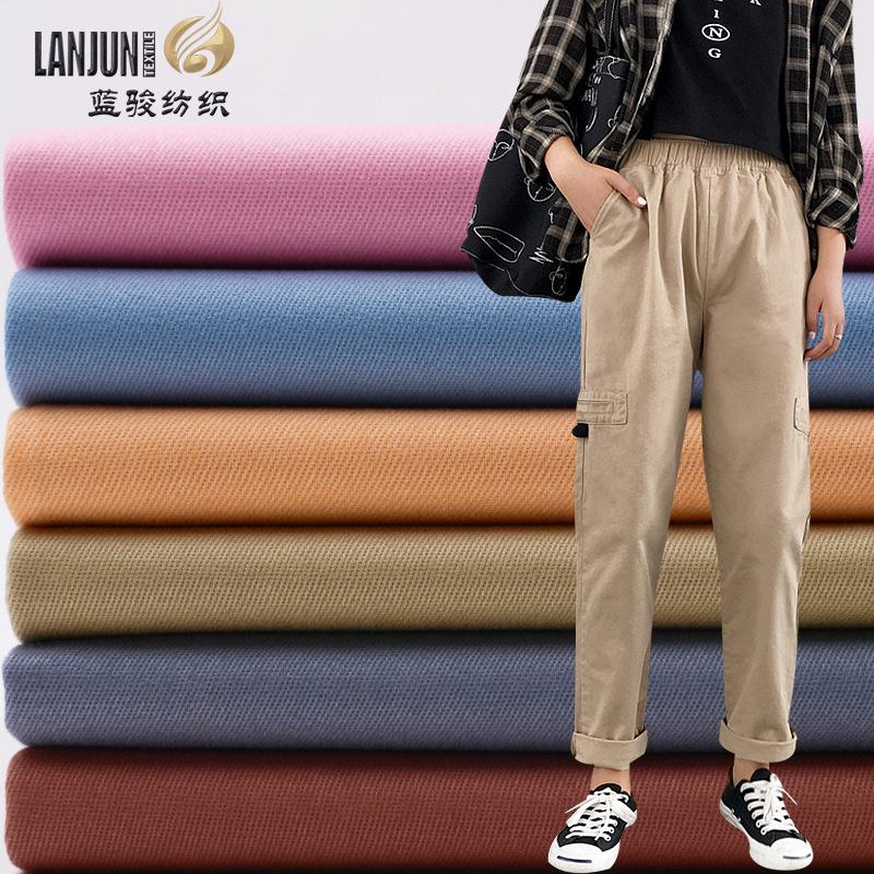 LANJUN Vải Twill Vải cotton nguyên chất mật độ cao twill sợi vải chứng khoán mùa xuân và mùa hè nam