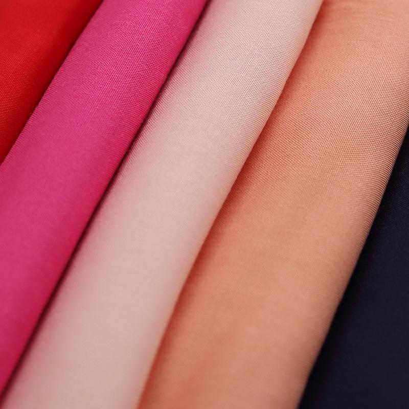BOHUA Vải Visco (Rayon) 45 * 45 vải cotton nhuộm màu đồng bằng vải lụa tơ tằm