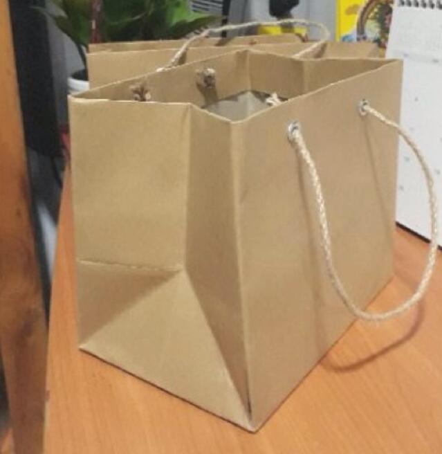 Túi giấy Combo 20 Túi Giấy Kraft 18 × 15× 12cm