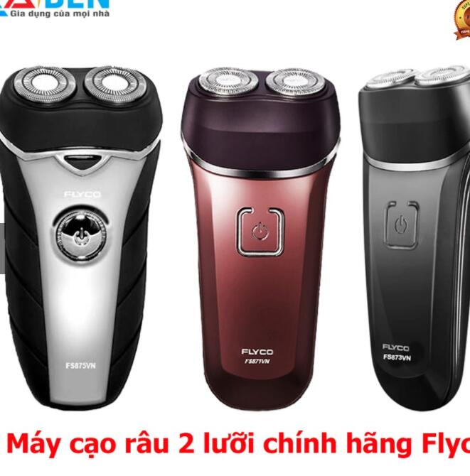 Dao cạo râu Máy cạo râu điện 2 lưỡi Flyco FS871VN / FS873VN / FS875VN
