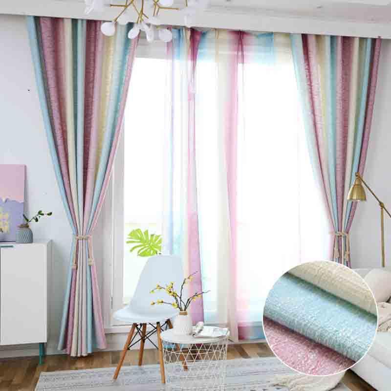 BUBUGAO Vải rèm cửa Nhà máy trực tiếp vải màn màn vải phòng ngủ phòng khách nghiên cứu sọc rèm màn h