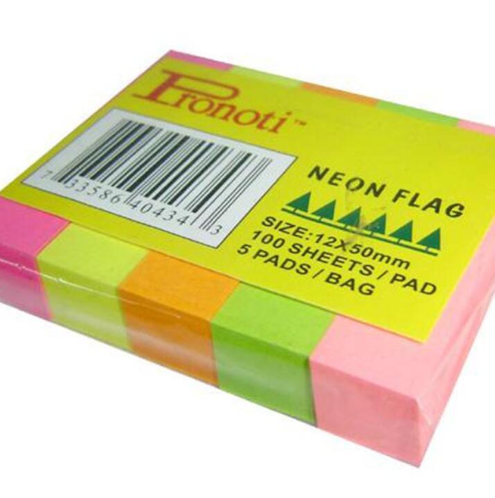 Giấy Note 5 Màu Nhựa Pronoti 45502
