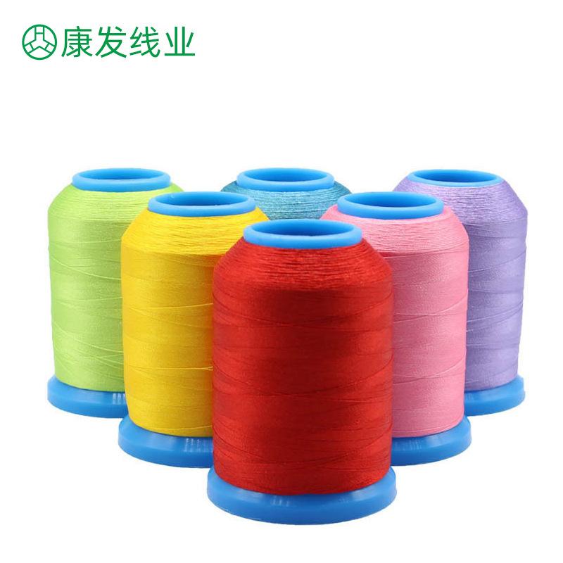 KANGFA Chỉ thêu Nhà sản xuất cung cấp 120D máy thêu chỉ 108 quần áo giày và mũ polyester thêu chỉ ma