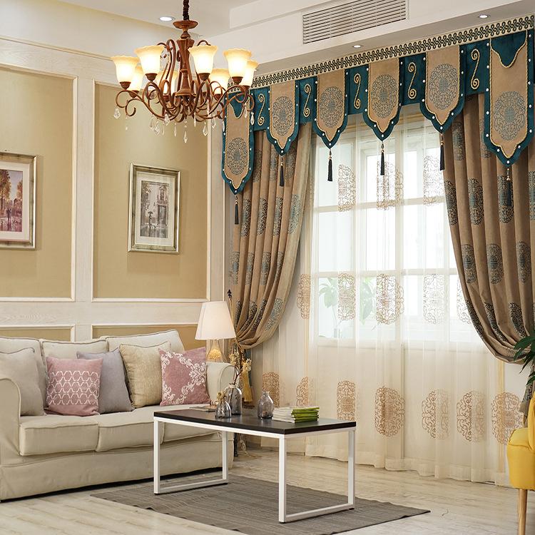 ZIYUNXUAN Vải rèm cửa Nhà máy trực tiếp Roman chenille jacquard rèm cửa Phòng ngủ phòng khách tinh k