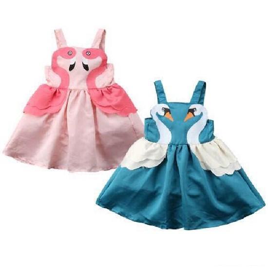 Váy đầm hình thiên Nga cho bé gái