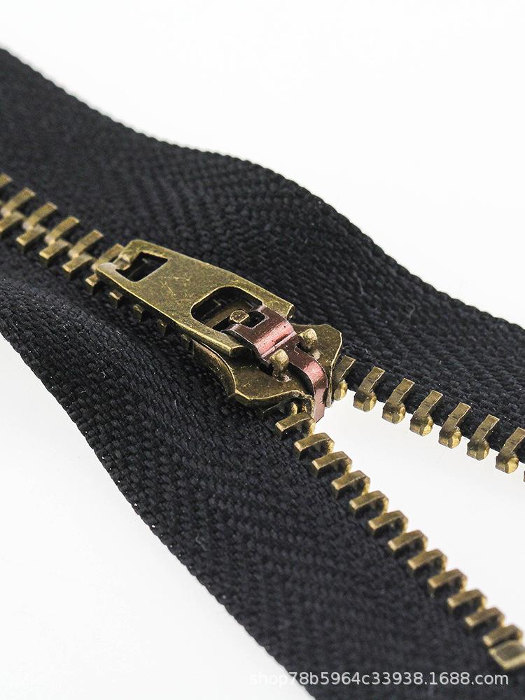 Dây kéo kim loại Số 4 khép kín kim loại dây kéo quần Quần túi kéo khóa kéo túi màu đen khóa kéo tự k