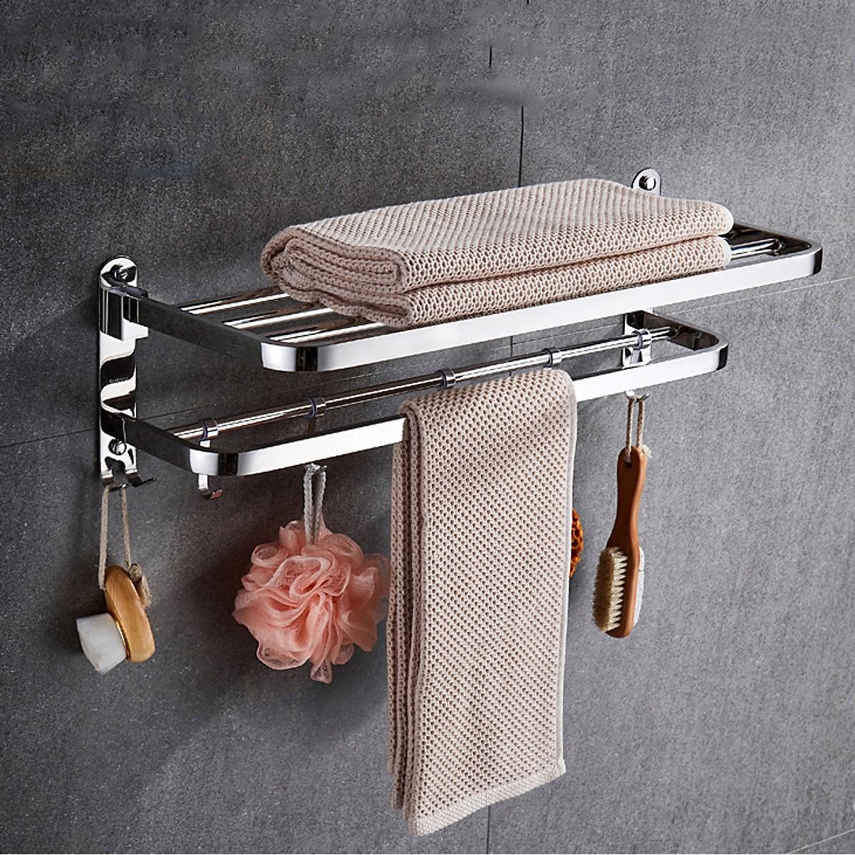 Kệ treo khăn tắm INOX 304 ( chống gỉ và bám vân tay)