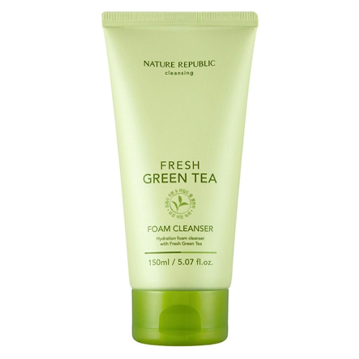 Sữa Rửa Mặt Trà Xanh Nature Republic Fresh Green Tea Foam Cleanser (150ml)