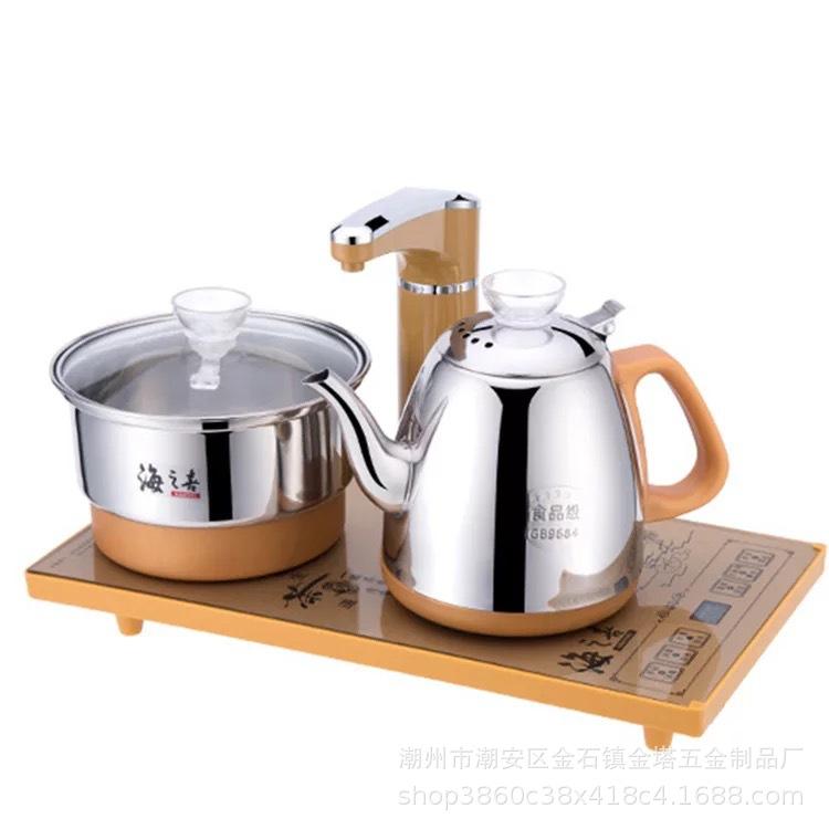 HAIZHIXI Nồi lẩu điện, đa năng, bếp và vỉ nướng Automatic intelligent electric kettle, kettle, three