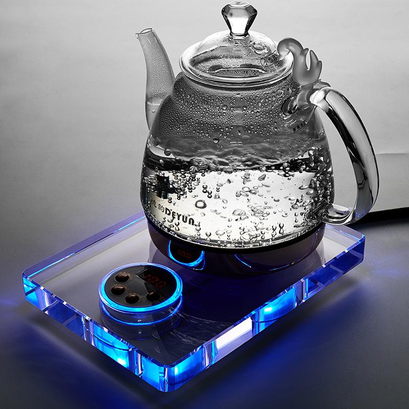 DEYUN Ấm,bình đun siêu tốc Manufacturer custom office electric kettle home teapot crystal teapot foa