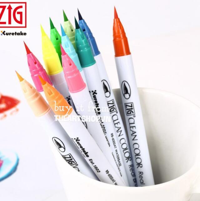 Bút nước Bút màu nước KURETAKE Zig Clean Color Real Brush (Bán lẻ)