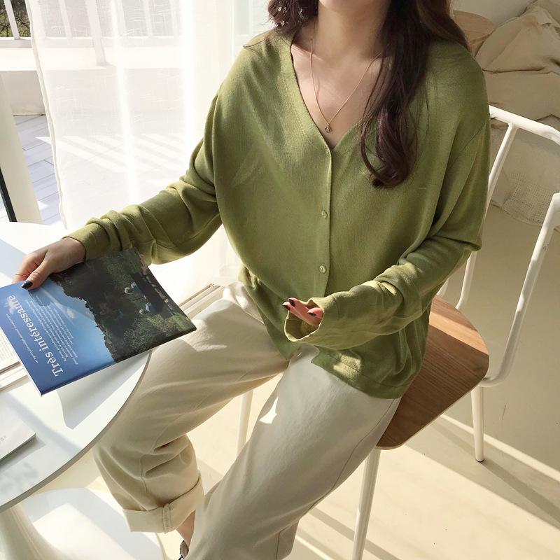 EAL Thời trang Áo len nữ mùa xuân 2019 phiên bản Hàn Quốc của áo len nữ mùa xuân và áo len mùa hè