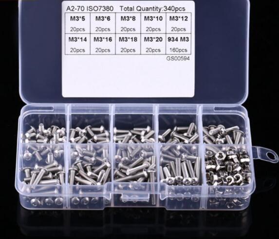 Ốc vít Set 340 ốc vít lục M3 đa năng