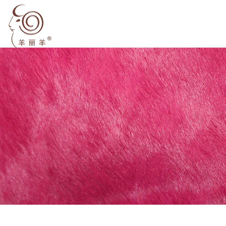 Yang Li Yang Da ngựa [Yang Li Yang] nhà máy nhập khẩu trực tiếp đơn sắc ngựa da da ngựa lông vải đơn