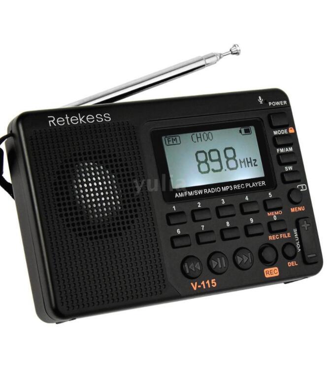 Máy nghe nhạc kiêm đài radio retekess v-115 FM / AM / SW