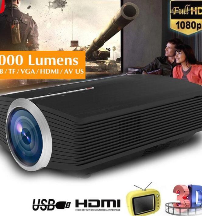 Máy chiếu đa phương tiện LED USB / TF / VGA / HDMI / AV