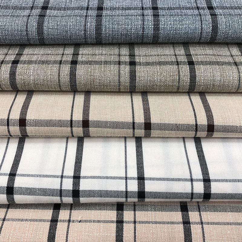 Vải pha sợi Polyester pha trộn sợi kẻ sọc vải Thời trang áo khoác nữ kẻ sọc nhỏ phù hợp với trang ph