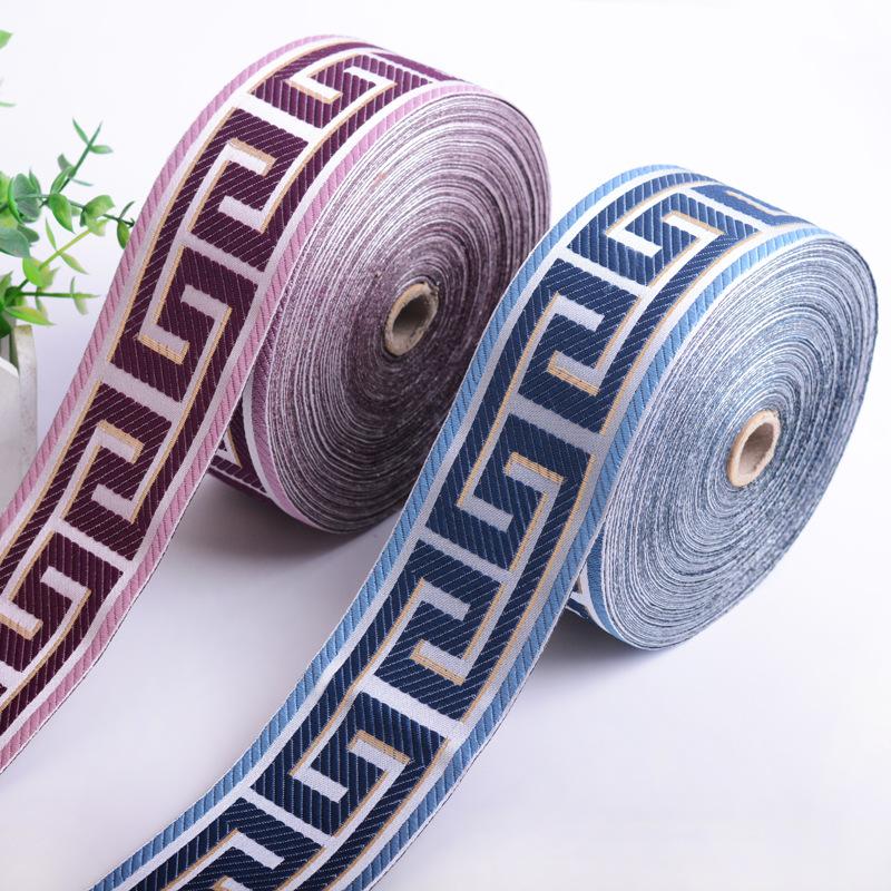 Dây cột rèm Chiều rộng 6cm9cm sofa đệm gối trang trí ren rèm jacquard băng khâu phụ kiện thắt lưng q