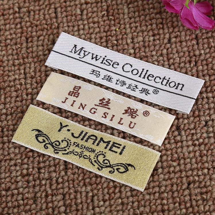 tem mạc , logo Vải tiêu chuẩn giặt cổ áo tiêu chuẩn vải tàu con thoi gỗ cổ áo nhãn nhãn quần áo nhãn