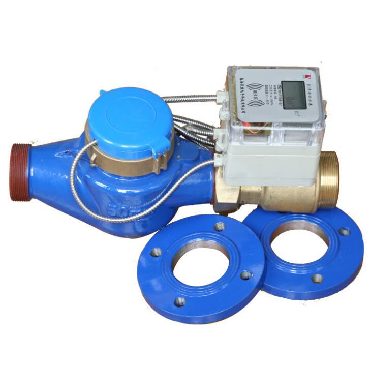 Đồng hồ nước Nhà sản xuất DN32-50 cỡ lớn, được tháo dỡ máy IC phí trả trước đồng hồ nước lạnh