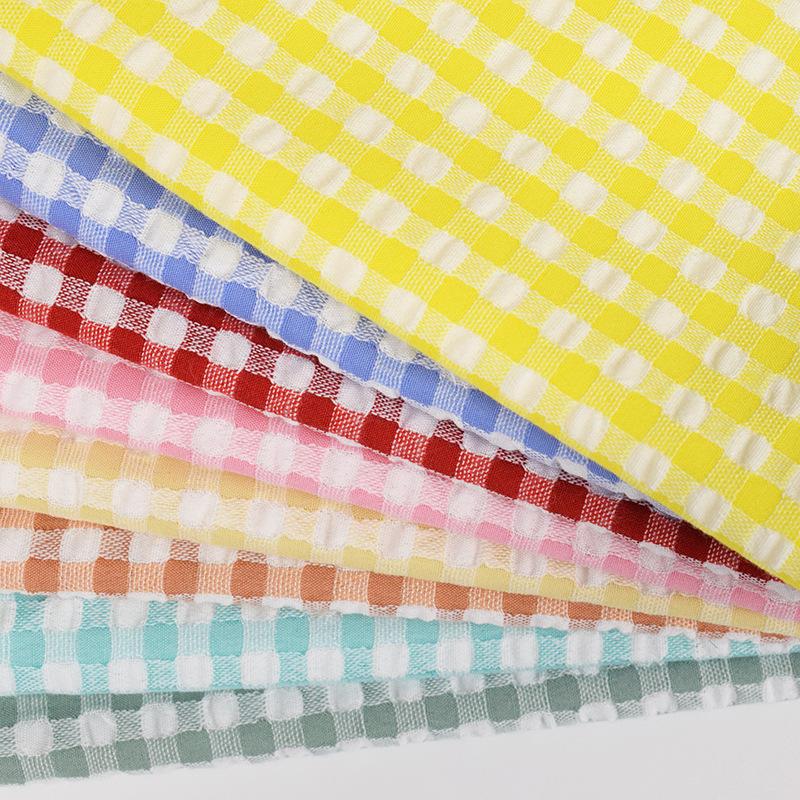 CHENGYAN Vải Yarn dyed / Vải thun có hoa văn Vải bong bóng tại chỗ Hình học jacquard màu mới dệt vải