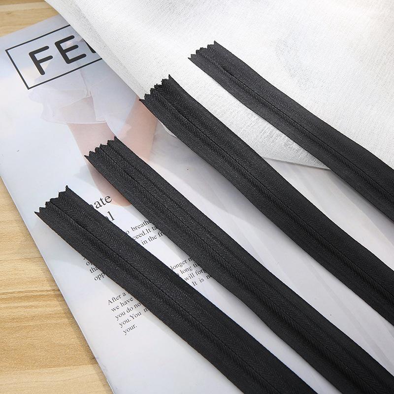 Dây kéo Nylon Nhà máy trực tiếp nylon vải vô hình dây kéo nhà dệt may phụ kiện dây kéo thứ ba dải dâ