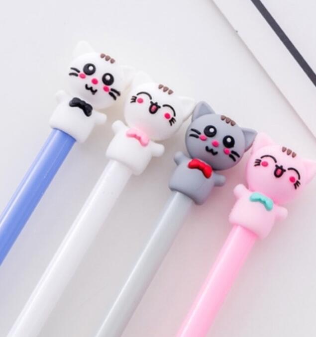 Bút bi nước mèo đeo nơ