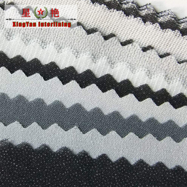 XINGYAN Vải lót Nhà máy trực tiếp, lót áo sơ mi, lót vải dính hai điểm, quần áo có lót vải