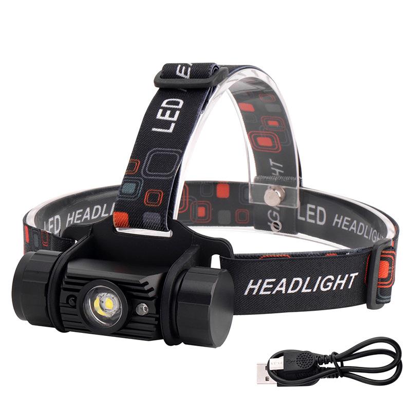Đèn điện, đèn sạc Đèn pha cảm biến LED sạc USB ngoài trời câu cá săn bắn đèn pin