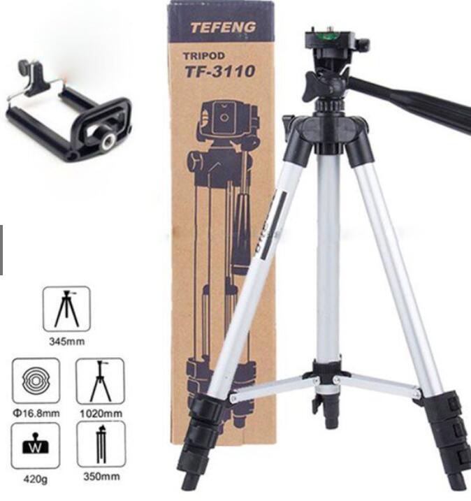 Chân giá đỡ Giá đỡ 3 chân máy chụp ảnh Tripod TF-3110 + Miếng kẹp điện thoại