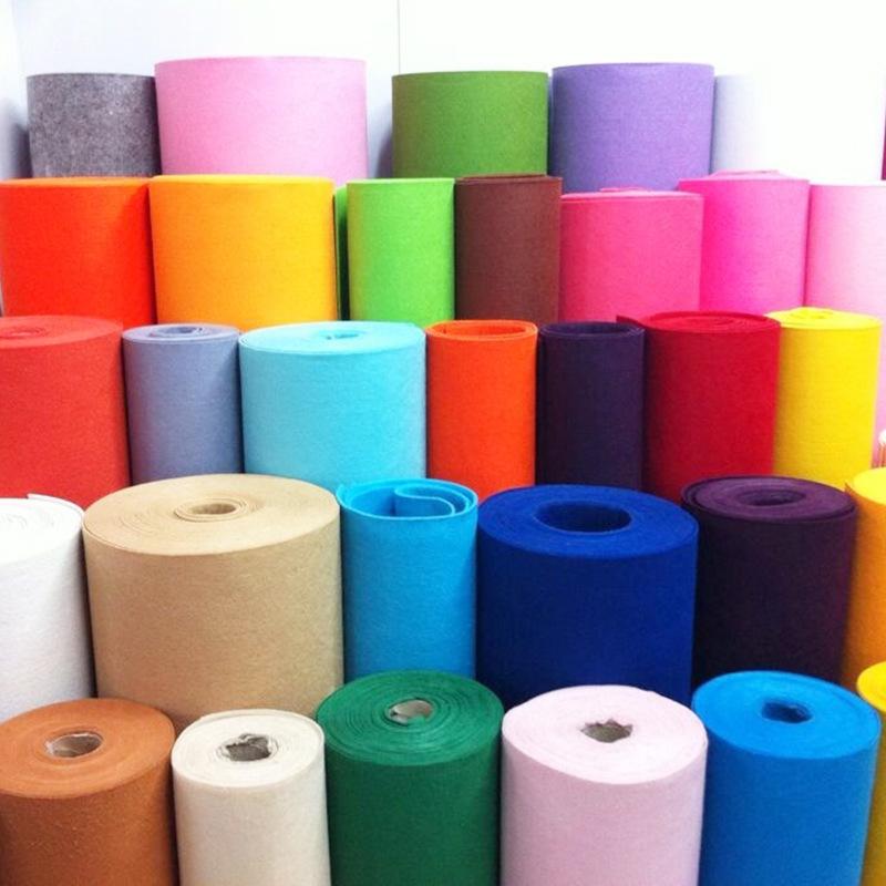 RUNZHEN Vải không dệt Tùy chỉnh màu vải không dệt nỉ chống cháy cảm thấy chống cháy trang trí bề mặt