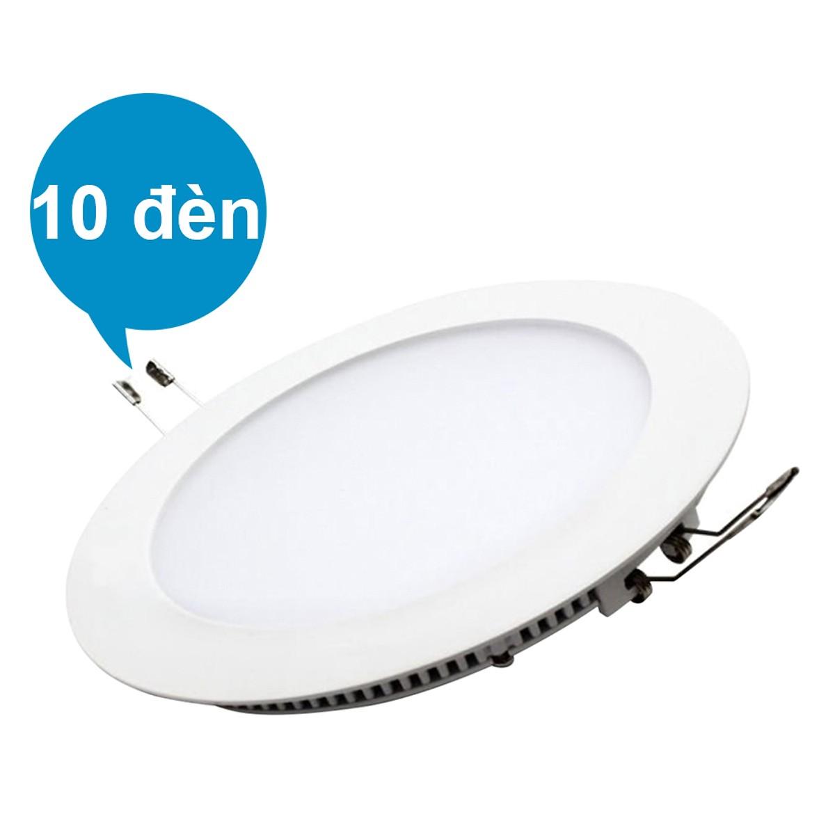 Bộ 10 Đèn LED Âm Trần 15W