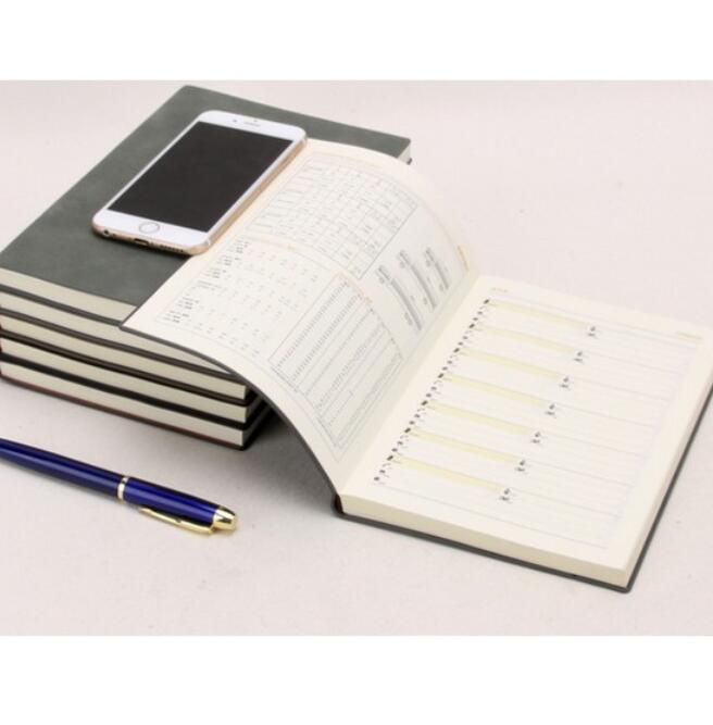 Sổ tay mini bằng da mềm kiểu dáng cổ điển