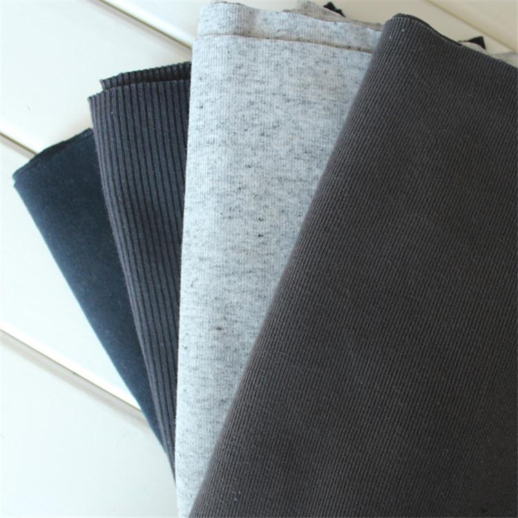 XINFENG Vải Rib bo Bán buôn 21S cotton 2 * 2 sườn vải may cổ áo sợi chỉ dệt kim