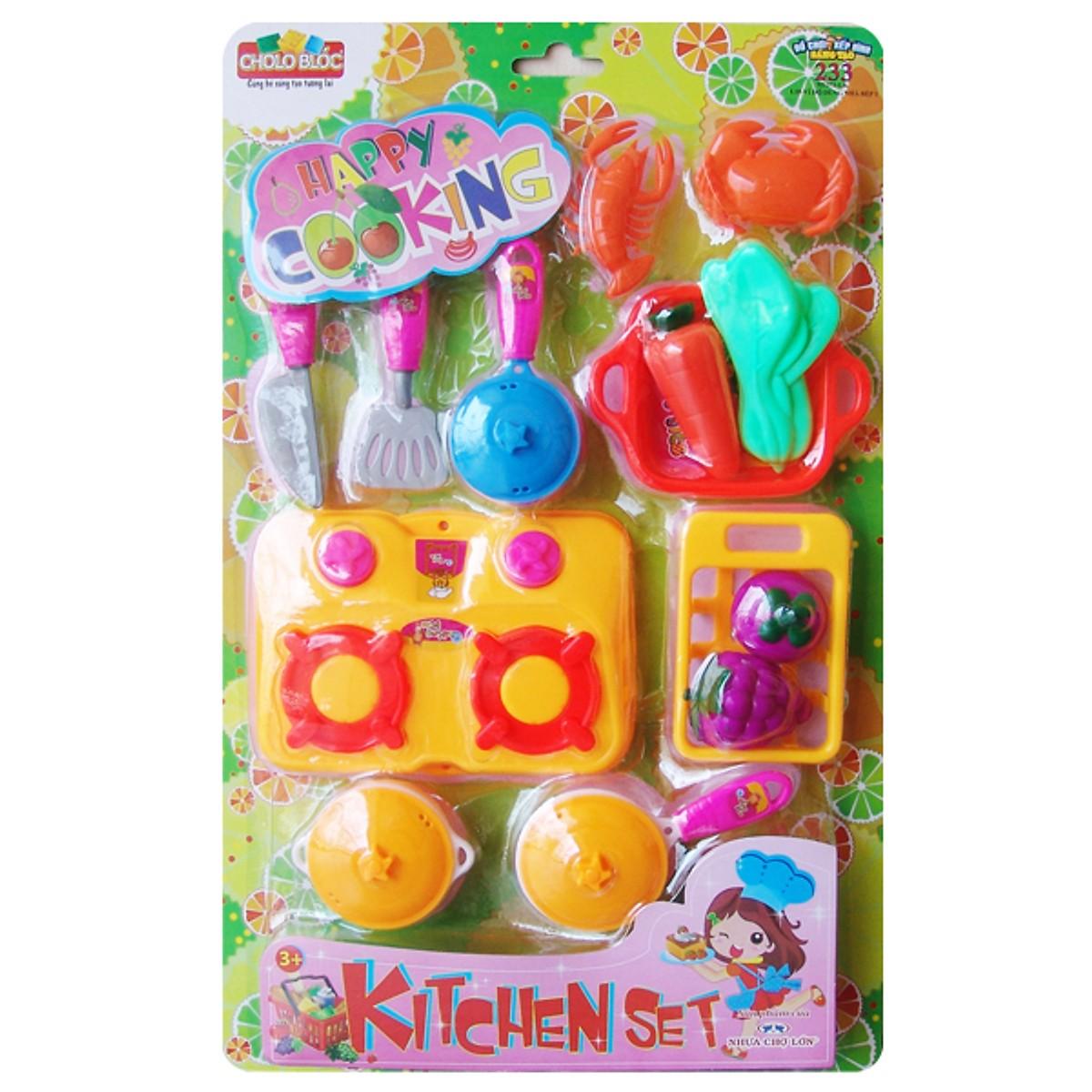 Bộ đồ chơi bán đồ hàng (L10-Vỉ nhà bếp 1-đơn giản) - M1373-LR
