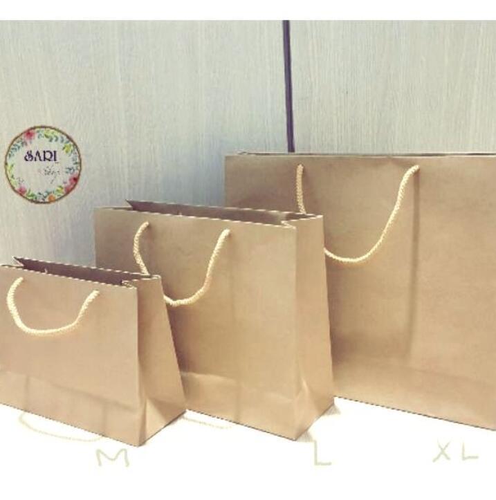 Túi giấy 10 Túi Giấy Kraft Nhật ( Link Bán Lẻ 10c)