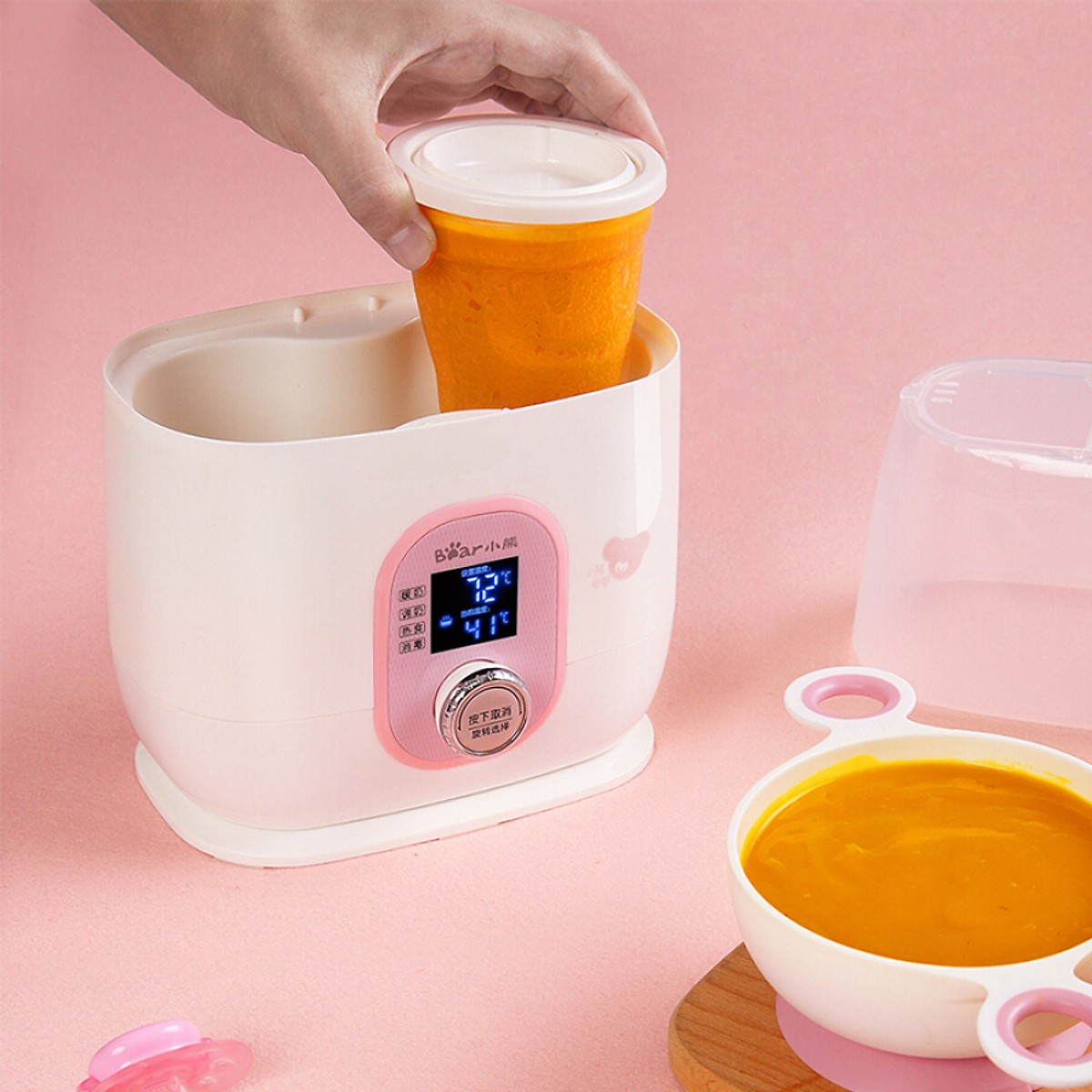 Máy làm ấm sữa và khử trùng , hiệu : Bear NNQ-A02B1