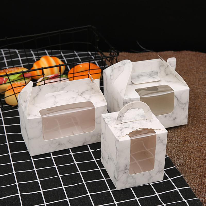 TONGMAO NLSX bao bì Bán buôn 1/2/4/6 cupcake cửa sổ di động muffin giấy cốc cốc đóng gói bánh puddin