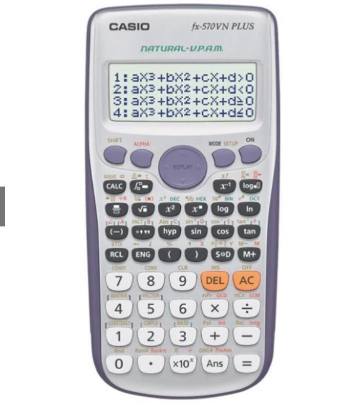 Máy Tính Cầm Tay Casio Fx570vn Plus Hàng Đầy Đủ Tem