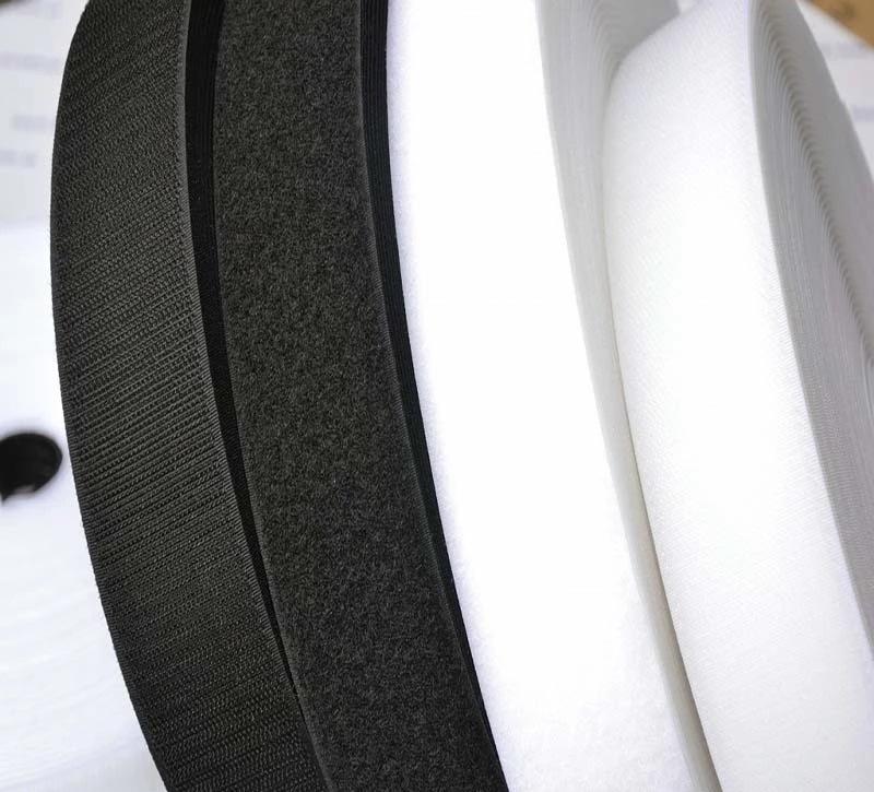 SANMEI Khoá dán 25 mm đen khâu bề mặt móc velcro nhà máy trực tiếp chung may đường may thô bề mặt ny