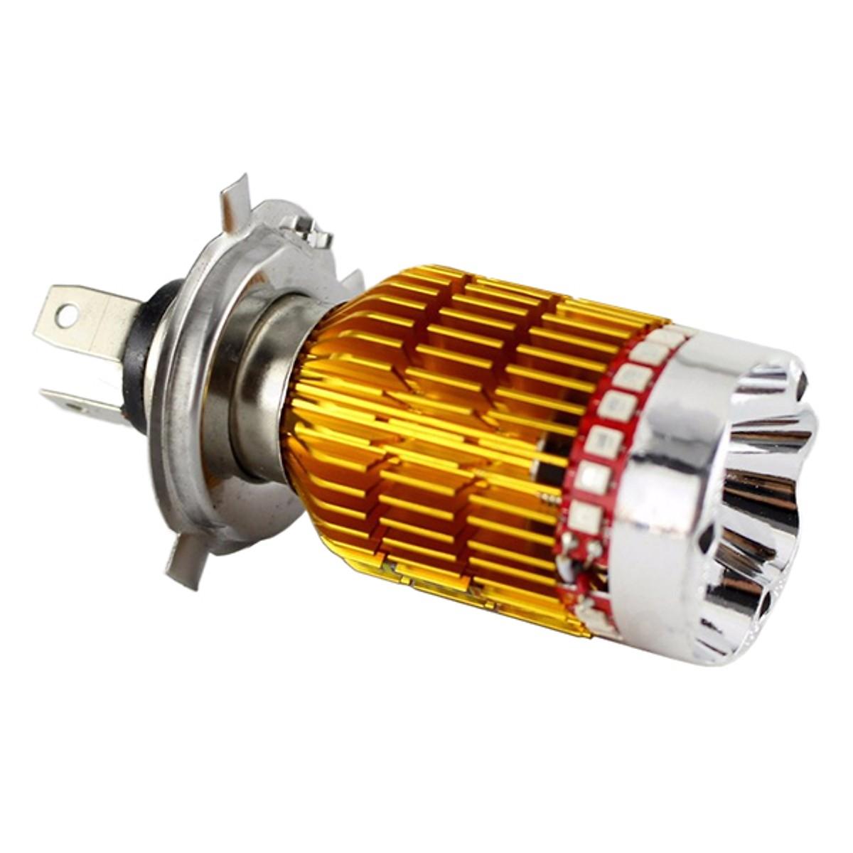 Đèn Pha LED dành cho Xe Máy - 7 Màu Chân H4