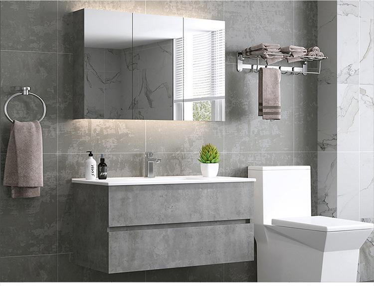 Nội Thất phòng Tắm : Tủ Treo kết hợp gương phía ngoài nhìn hiện đại và tối giản .