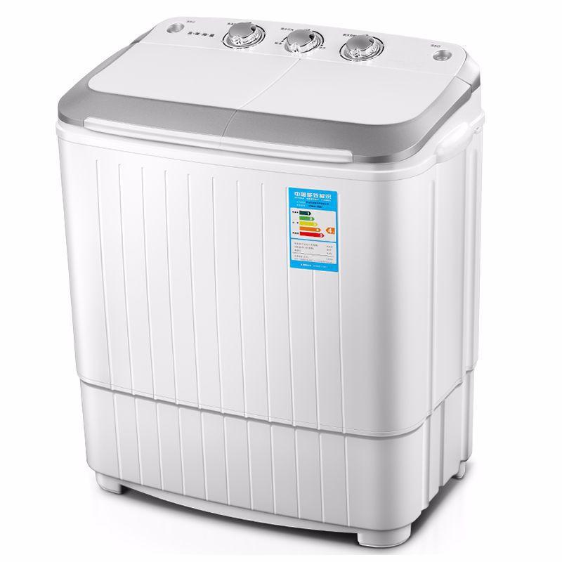 Máy giặt 5kg thùng đôi song song bán tự động mini nhỏ hộ gia đình