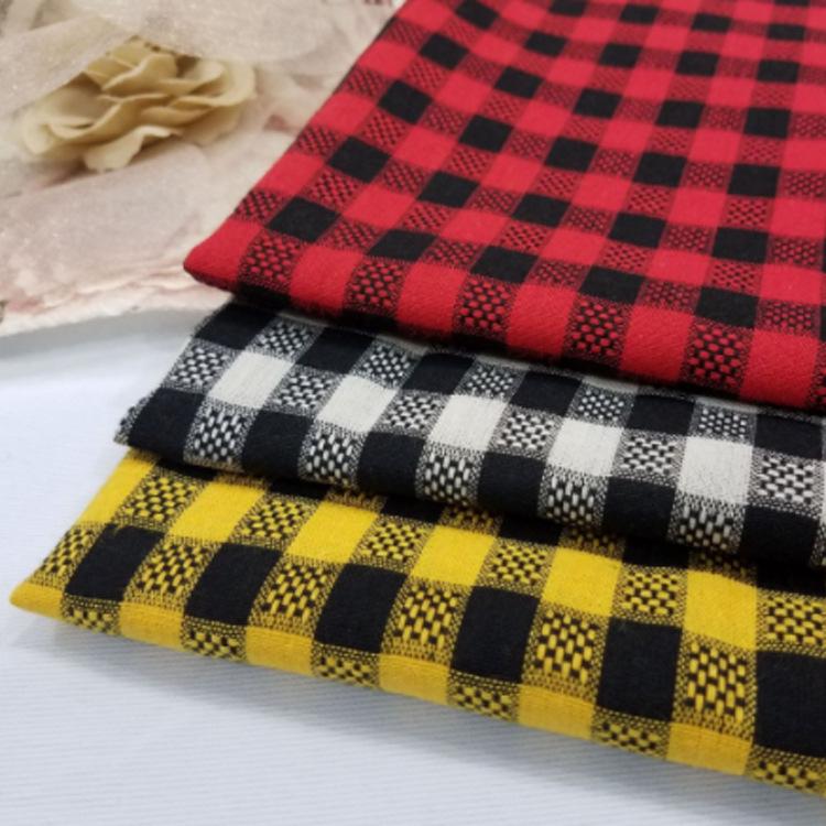 Vải Yarn dyed / Vải thun có hoa văn Nhà máy sản xuất vải kẻ sọc polyester-cotton nhuộm trực tiếp Vải