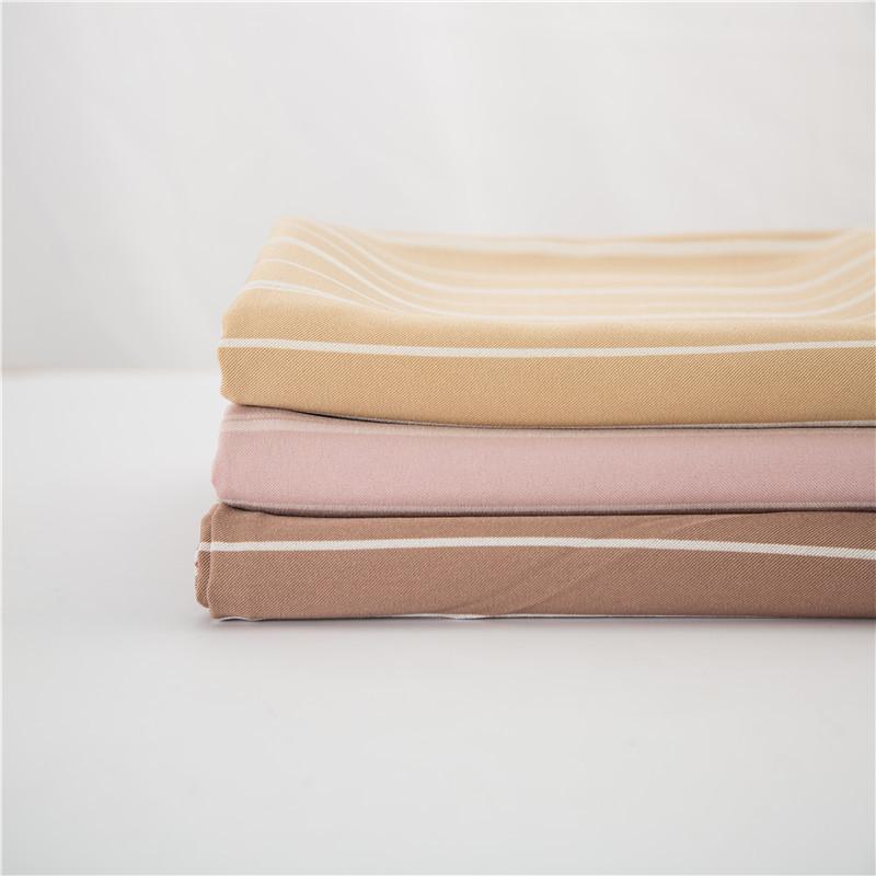 JIAN NLSX vải Các nhà sản xuất cung cấp vải cation nhuộm sợi kéo dài Cung cấp nhiều màu sọc chéo vải