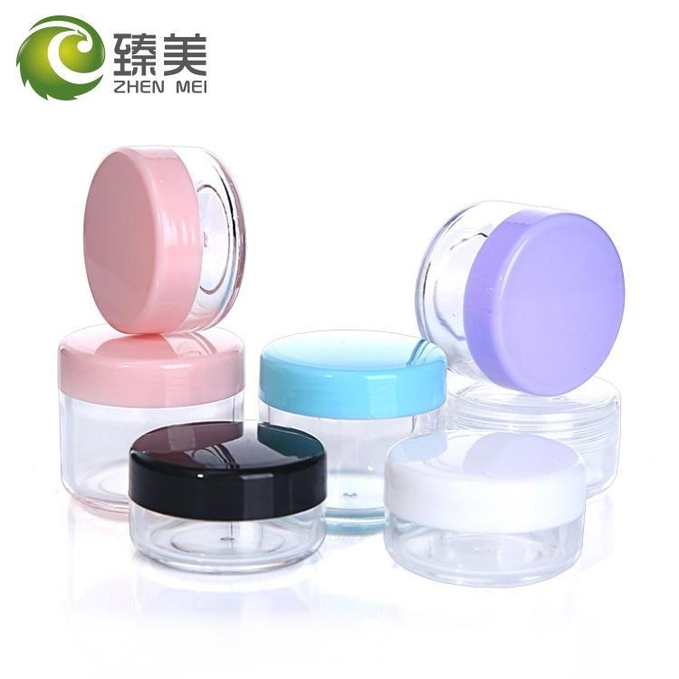 NLSX bao bì 10/15 / 20g gram PS hộp kem hộp thử nghiệm mẫu chai lọ mỹ phẩm đóng gói chai lọ
