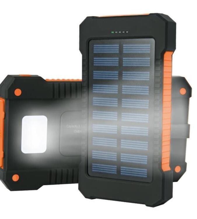 Pin sạc dự bị Solar Charging Powerbank 10000 MAh Ultra-Thin Large-Capacity Powerbank