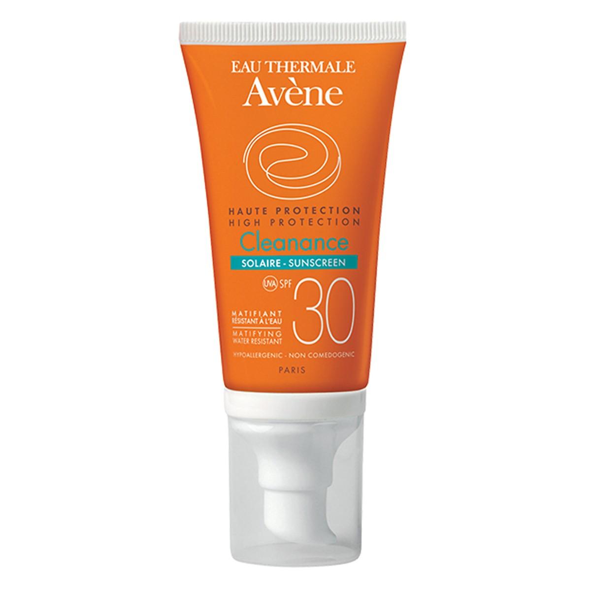 Chống Nắng Cho Da Nhờn, Mụn, Nhạy Cảm Avene Protection Cleanance Sunscreen SPF30 50ml - A1ASS2 - 100